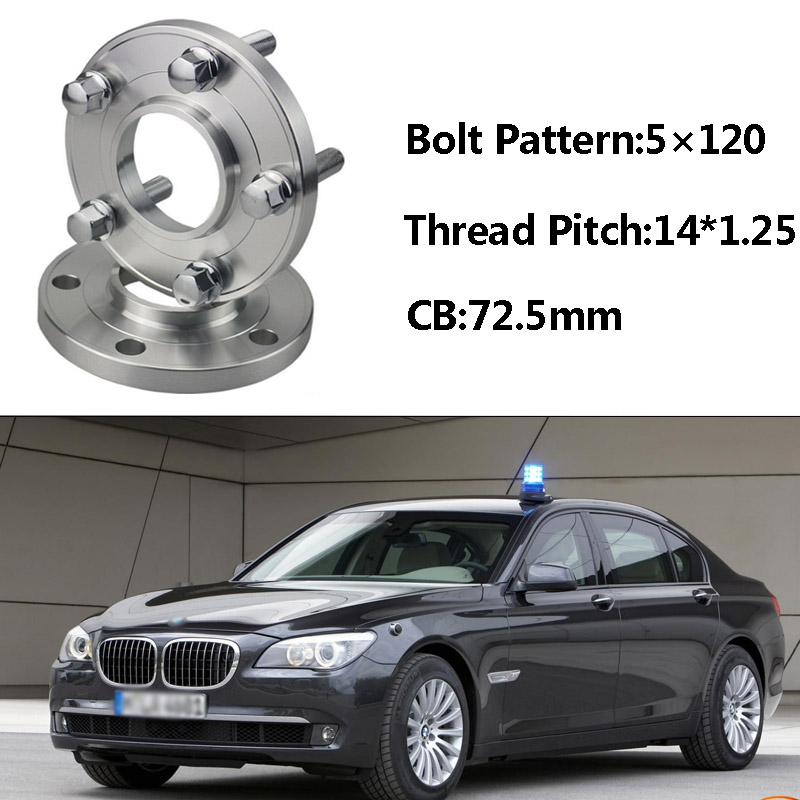 2pcs 5x120 72.5CB Centric Wheel Spacer Hubs M14*1.25 Bolts For BMW F03 F10 F11 F12 F20 F15 F34 F02 F26 F01 F30 F13 F21 F33 F25