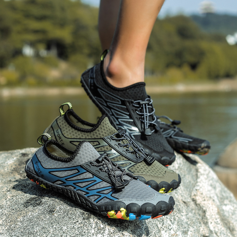 Unisex Beach Sneakers Water Shoes Men Barefoot Beach Sandals Upstream Aqua Shoes Quick Dry Sea Diving Swimming Fishing shoes in Upstream Shoes from Sports Entertainment