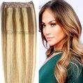 #8/613 color mezclado Cabeza Completa 1 unids conjunto cabeza llena Brasileña remy Virginal extensiones de cabello humano clips en/en 26 colores disponibles