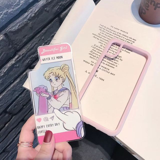 Cartoon Beautiful girl Sailor Moon anime Case For iPhone