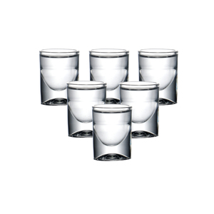 Image 5 - Set Van 6Pcs Heavy Loodvrij Machine Gemaakt Borrelglaasjes Voor Kerstcadeau Liquor Vodka Geesten Drankjes Chinese Baijiu whisky 15Ml