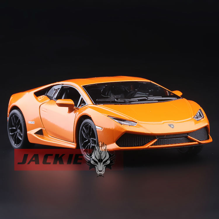 High Simulation Exquisite Collection Toys: KiNSMART Car Styling Huracan LP610 Model 1:36 Alloy Supercar Model Pull Back Cars