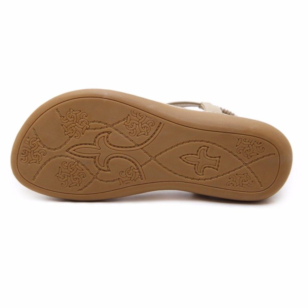 Flip Femmes gris Beyarne Flops Strass Talon noir Apricot Bohème Bande Boho Confortable Plat Mode Élastique E171 Sandales Chaussures Cristal Ethniques fHW5qI5