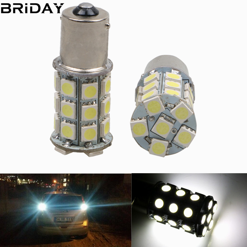 1pc 1156 1157 BA15S P21W 27 SMD  Car Auto Backup Reserve lights Brake Parking 5050 LED Tail signal Lamp light bulb White 12V 24v