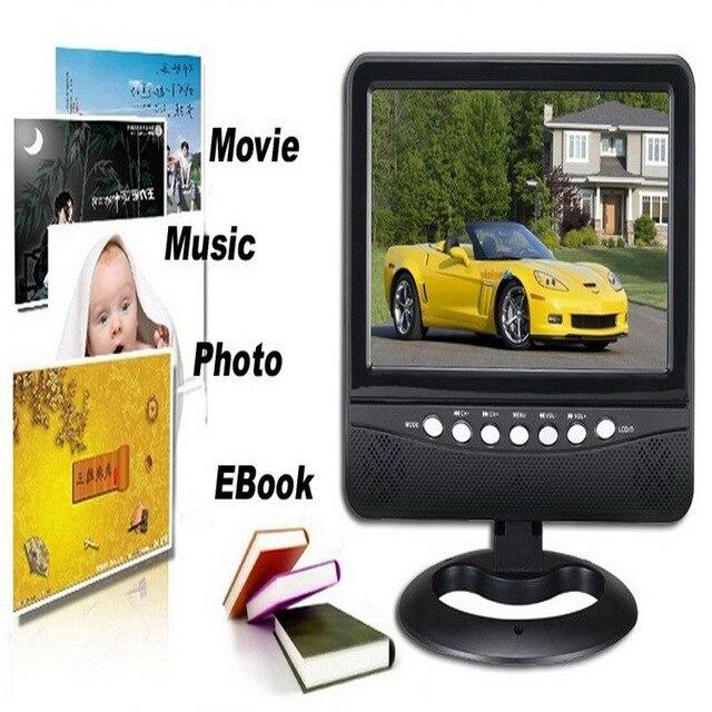 Телевизоры 7.8 дюймов Портативный СВЕТОДИОДНЫЙ Аналоговый ТВ PAL \ NTSC \ SECAM 16:9 Широкий экран с высоким разрешением AV/поддержка SD/MMC/USB Flash