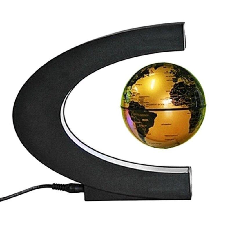 HZFCEW lévitation Globe Anti gravité magnétique Globe flottant carte du monde avec LED veilleuse maison bureau bureau décoration-bleu