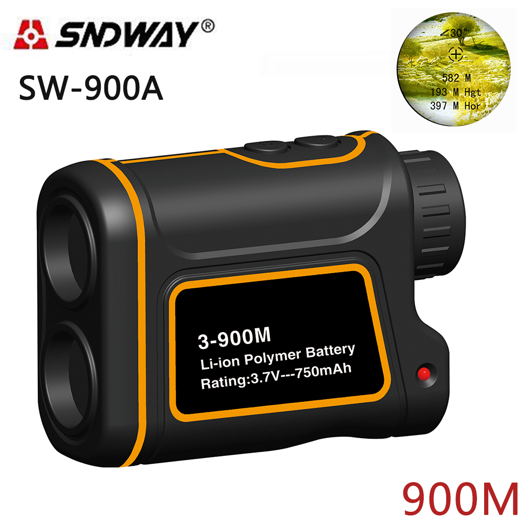 SNDWAY SW-900A Telescope trena laser rangefinders distance meter Digital Monocular hunting golf laser range finder tape 8X 900M xiaying smile summer women sandals casual fashion lady square heel slip on flock shoes pointed toe cover heel lace bowtie shoes page 1
