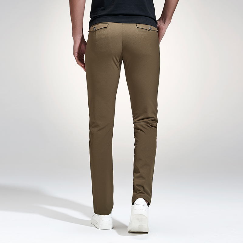 177068c8 Anbican Fashion Khaki Casual Pants Men 2017 Spring Brand New Leisure  Business Slim Trousers Mens Cotton Work Chinos Dress Pants-in Casual Pants  from Men's ...