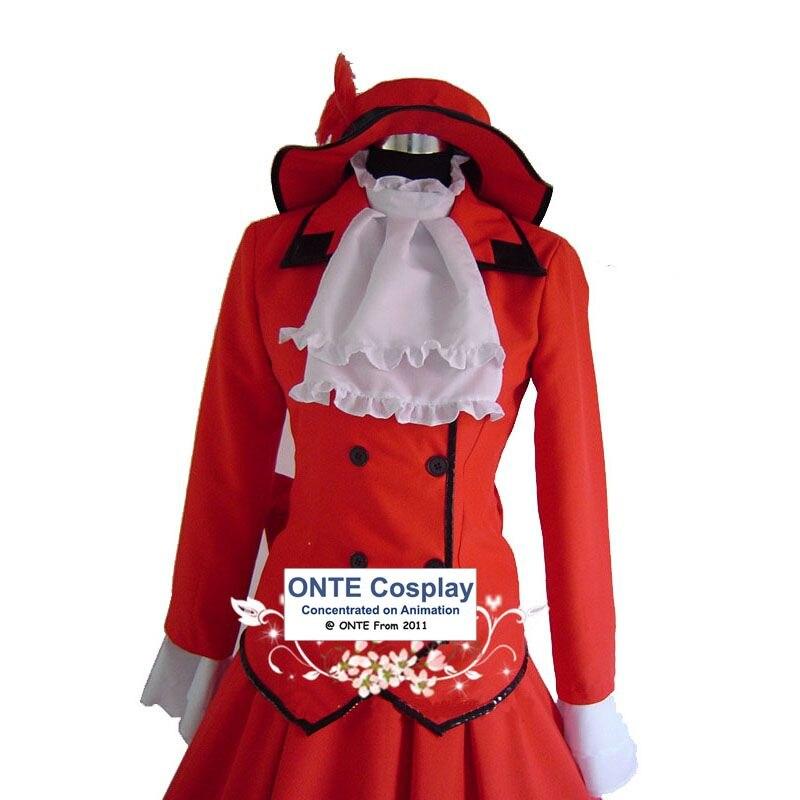 Anime Black Butler Jurken Cosplay Kostuums Madam Red Fancy Party - Carnavalskostuums - Foto 4
