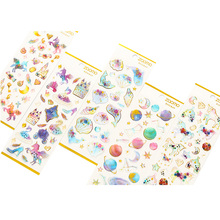 20packs/lot Fantastic Epoxy Beautiful Dream Crystal stickers flower decoration Creative Handbook Diary DIY Deco Sticker