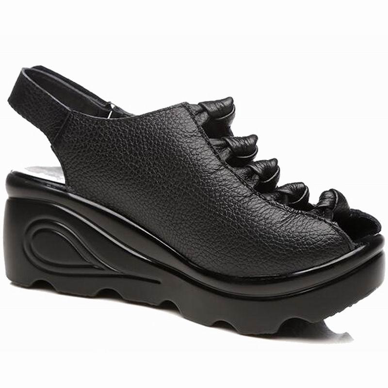 Frauen Schuhe Schuhe Professioneller Verkauf 2018 Mode Kork Sandalen 2018 Neue Frauen Casual Sommer Strand Gladiator Schnalle Sandalen Schuh Flache Mit Plus Größe