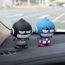 Украшение автомобиля украшения для Marvel Мститель Рисунок кукла милый Декор Автомобильный интерьер приборной панели игрушки авто аксессуары Подарки