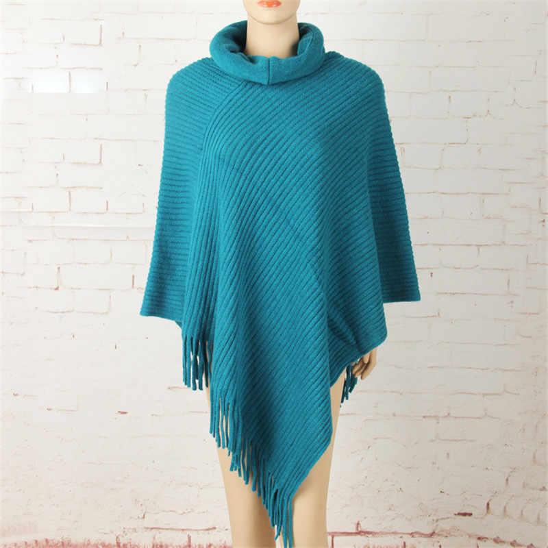 Nieuwe Vrouwen Trui Poncho Vest Pull Femme Trui Winter Warm Tricot Vintage Trui Casual Shirt Fashion Europese Stijl