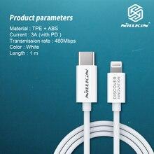 Câble NILLKIN type c à éclairage câble pd certifié MFi prise en charge de la livraison dénergie charge rapide avec chargeur PD de Type C pour iPhone
