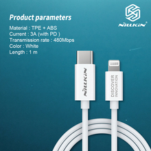 NILLKIN Type C to Lighting Cable pd cable MFi Certified Supports Power delivery Fast Charging with Type C PD Charger for iPhone