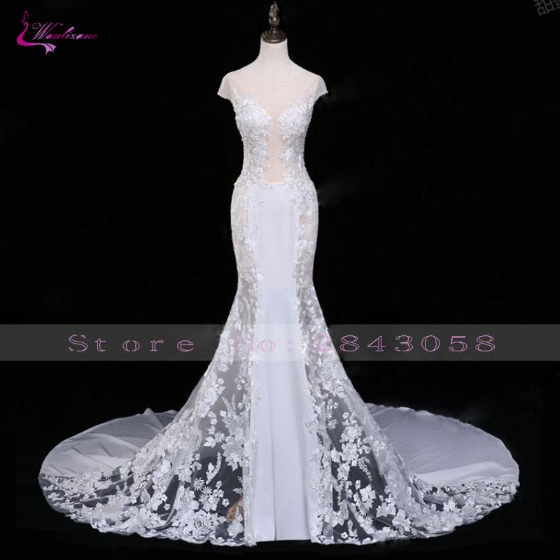 Waulizane स्कूप मरमेड वेडिंग - शादी के कपड़े