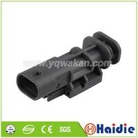 Envío gratis 2 juegos 2pin auto impermeable eléctrico de plástico arnés connector2-1703498-3