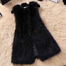 FTLZZ, натуральный мех енота, жилет для женщин, на каждый день, размера плюс, жилеты средней длины, натуральный мех, жилет, натуральный мех, шуба
