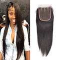 7A Brazilian Straight Closure Annabelle Hair Products Brazilian Virgin Hair Closure 4x4 Virgin TOP Lace Closure Bleached Knots