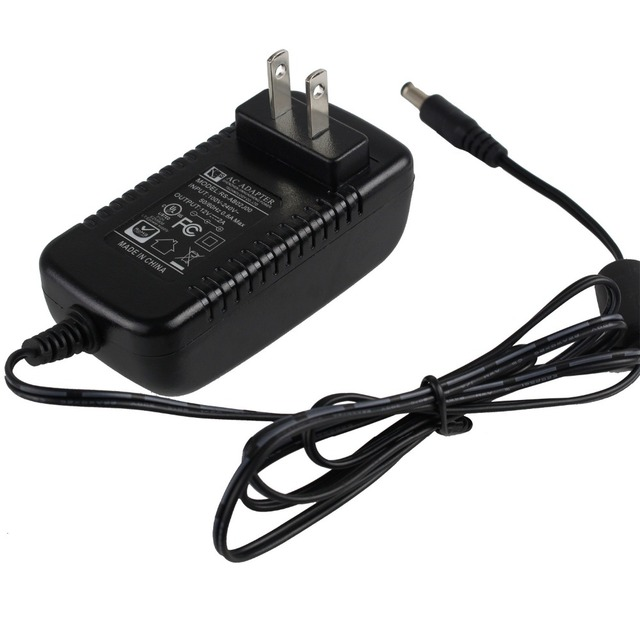 DEFEWAY 1 Piece 12V/2A Power adapter for CCTV Camera or DVR CCTV System EU/UK/AU/US Plug