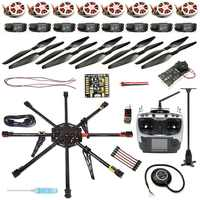 DIY GPS Drone Carbon Fiber 8-axle Aircraft PX4 2.4.8 Flight Controller APM2.6 GPS 350KV Motor 40A ESC AT9S Transmitter