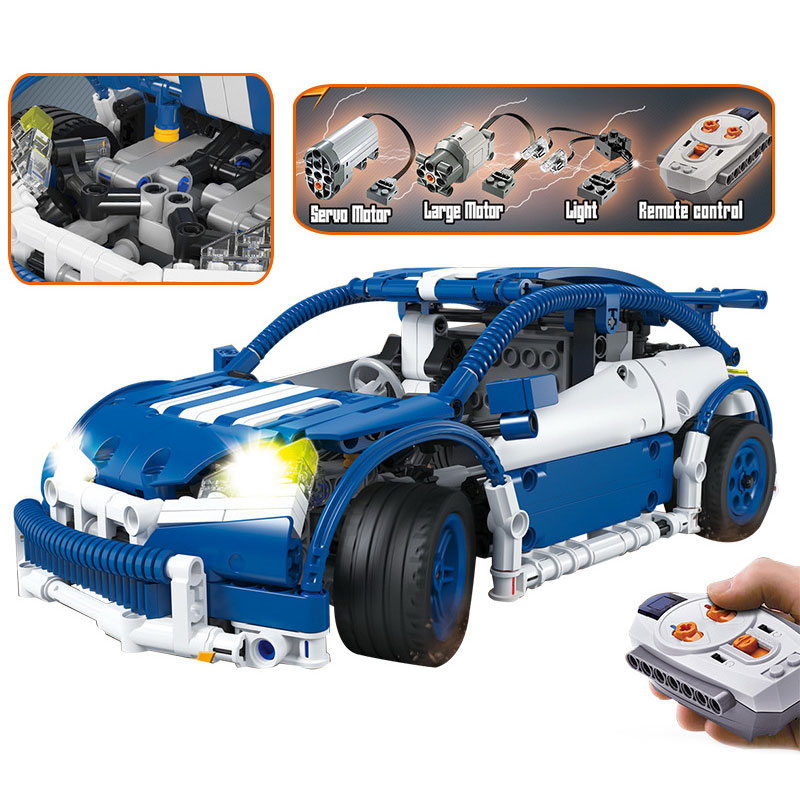 New LEPIN Technic Motor Electric Drive Car Model Building Blocks Set DIY Bricks Educational Toys For Children Boy Gift xipoo 6 in 1 blue military ship diy model building blocks bricks sets educational gift toys for children boy friends