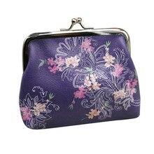 Женская сумка для монет, женский простой кошелек с застежкой и цветком, летний женский кожаный кошелек для монет, Новое поступление, Portemonnee Vrouwen# Zer