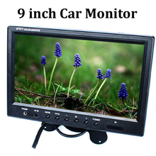 9 Inch TFT LCD 16:9 Car Monitor 2 Way video input Rearview Monitor for VCD/DVD/GPS/Car Reverse Camera