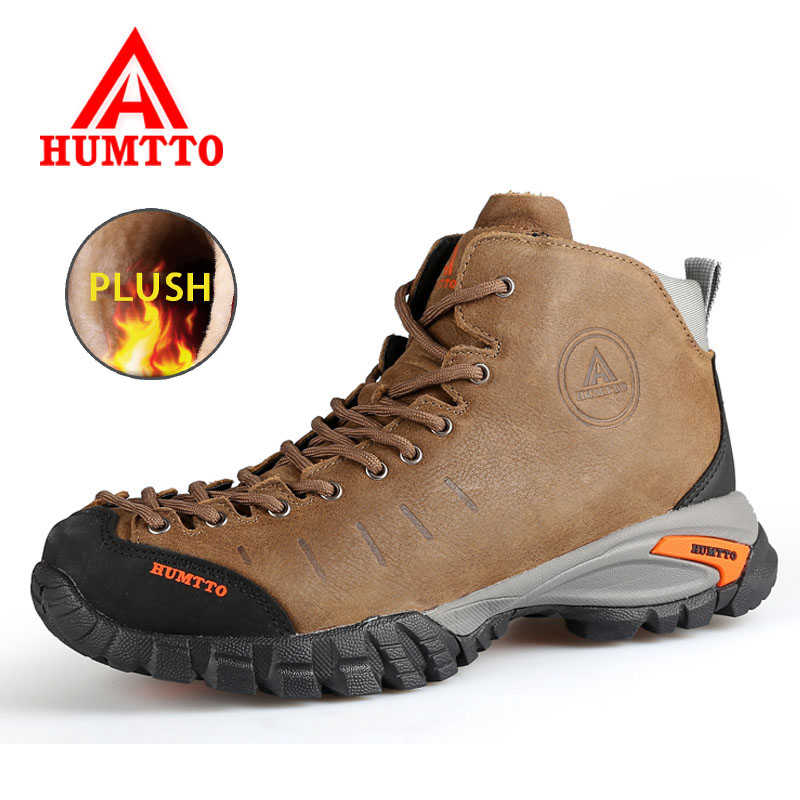 HUMTTO Winter Men Hiking Boots Women Warm Snow Boots Outdoor Waterproof Mountain Climb Trekking Shoes Couple Hiking Sneakers men winter boots plush warm hiking boots outdoor tactical trekking shoes men genuine leather waterproof ankle boots men sneakers