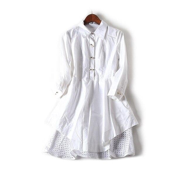 Новая весна 2018 новое платье в европейском стиле платье-футболка 9316