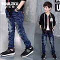 2017 new style baby boys jeans ripped jeans for kids top quality denim kids pants spring children's jeans for 4-13y boy trousers