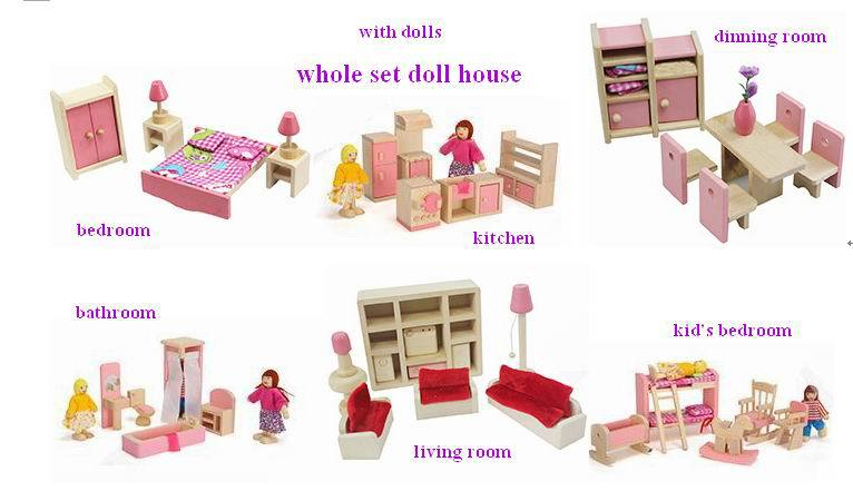 Aliexpress Buy 1 Room Kids Wooden Furniture Toys For Doll