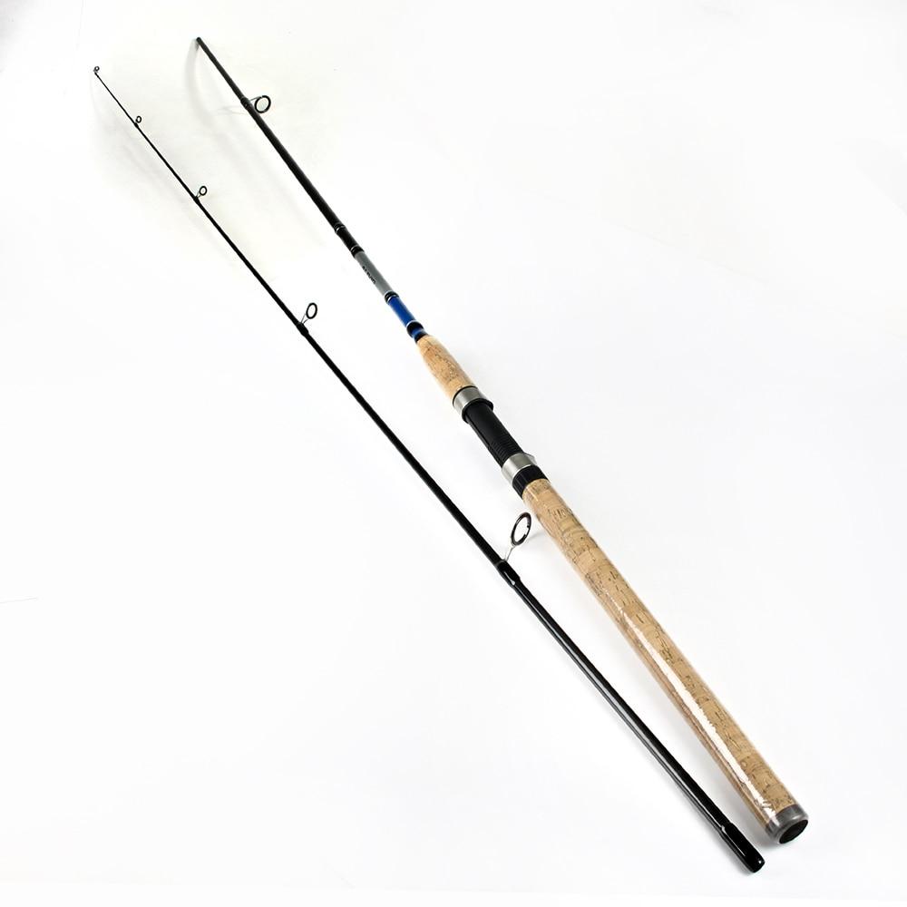 POISSON ROI 99% de Carbone 2.1 m 2.4 m 2.7 m 2 Section Doux Leurre De Pêche Tige Leurre Poids 3- 50g Spinning Canne À Pêche Pour Leurre De Pêche