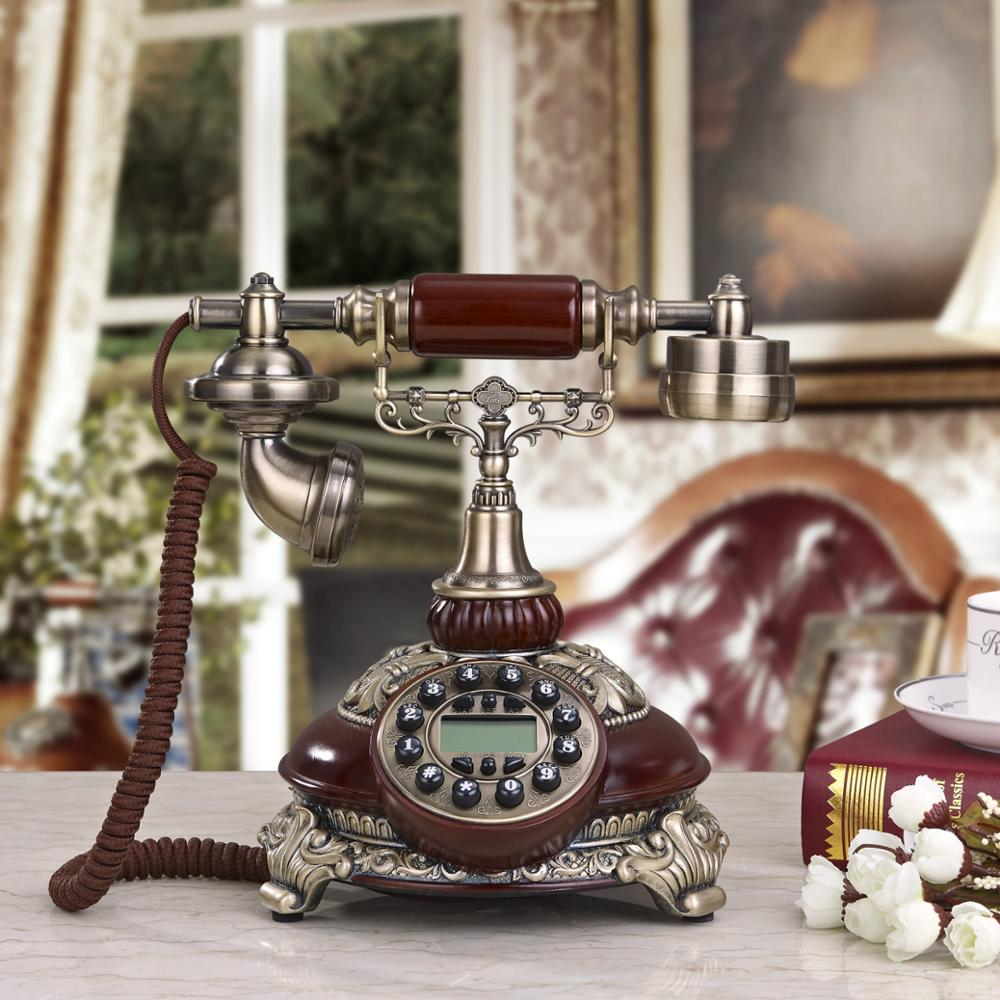 hight resolution of antique antique telephone antique european style old home office telephone line telephone in figurines miniatures from home garden on aliexpress com