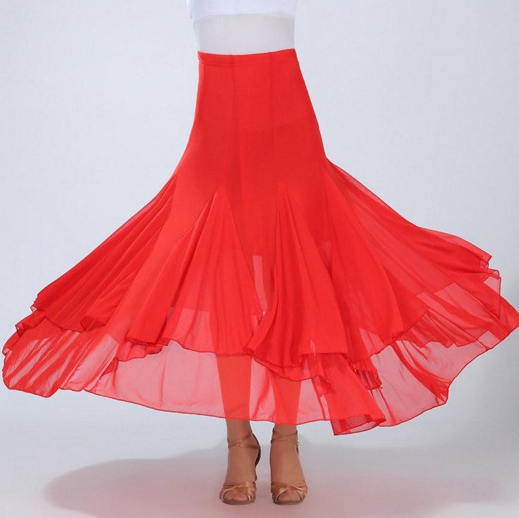Women's Ballroom Dance Skirt Long Dance Modern Standard Waltz Competition Dance Dress Belly Dance Latin Tango Skirt