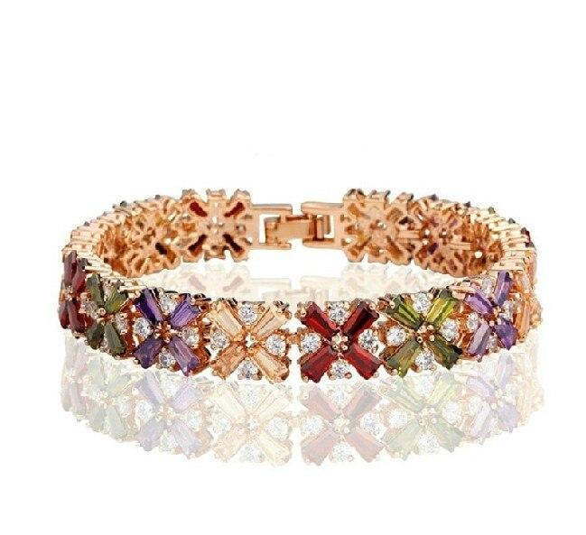 Seven multicolour crystal bracelet Fashion jewelry Color Butterfly Bracelet with sweet temptu pro transfer sweet tribal butterfly wings трансферная татуировка
