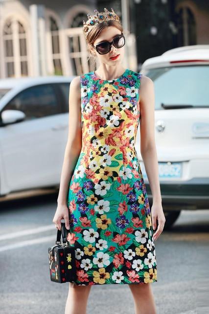 8f2cf23c58 CQL437 Nowy projektant mody luksusowe marka Kobiety sukienka słodkie Piękne  kobiety vintage suknie włochy runway gorąca