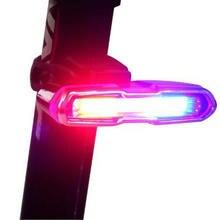 Luz delantera y trasera para bicicleta, recargable vía USB, batería de litio, luz LED trasera para casco de ciclismo, lámpara de montaje, accesorios para bicicleta