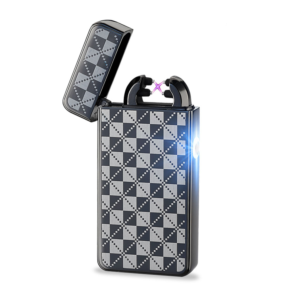 2016 New Arrival Fashion and Portable Arc Windproof Lighter Usb Pulse Charging font b Electronic b