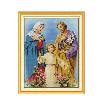11CT impresión en lienzo cuadros de punto de Cruz Jesús Costura, Santa...