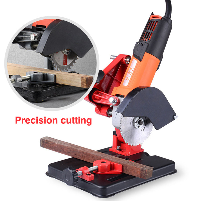Angle Grinder Stand For 100-125 Angle Grinder Bracket Holder Woodworking Tool DIY Cutting Cast Iron Base Power Tools Accessories (2)