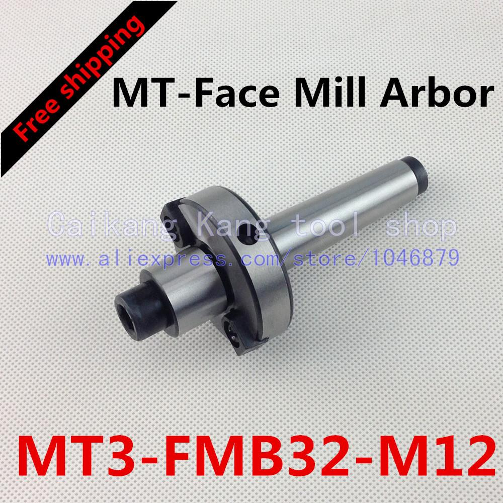 ФОТО Free shipping New CNC tool holders MT3-FMB32-M12 Morse  Face Mill Arbor Shell end mill arbor