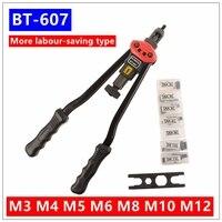 BT 607 17 Blind Rivet Nut Gun Heavy Hand INSER NUT Tool Manual Mandrels M3 M4