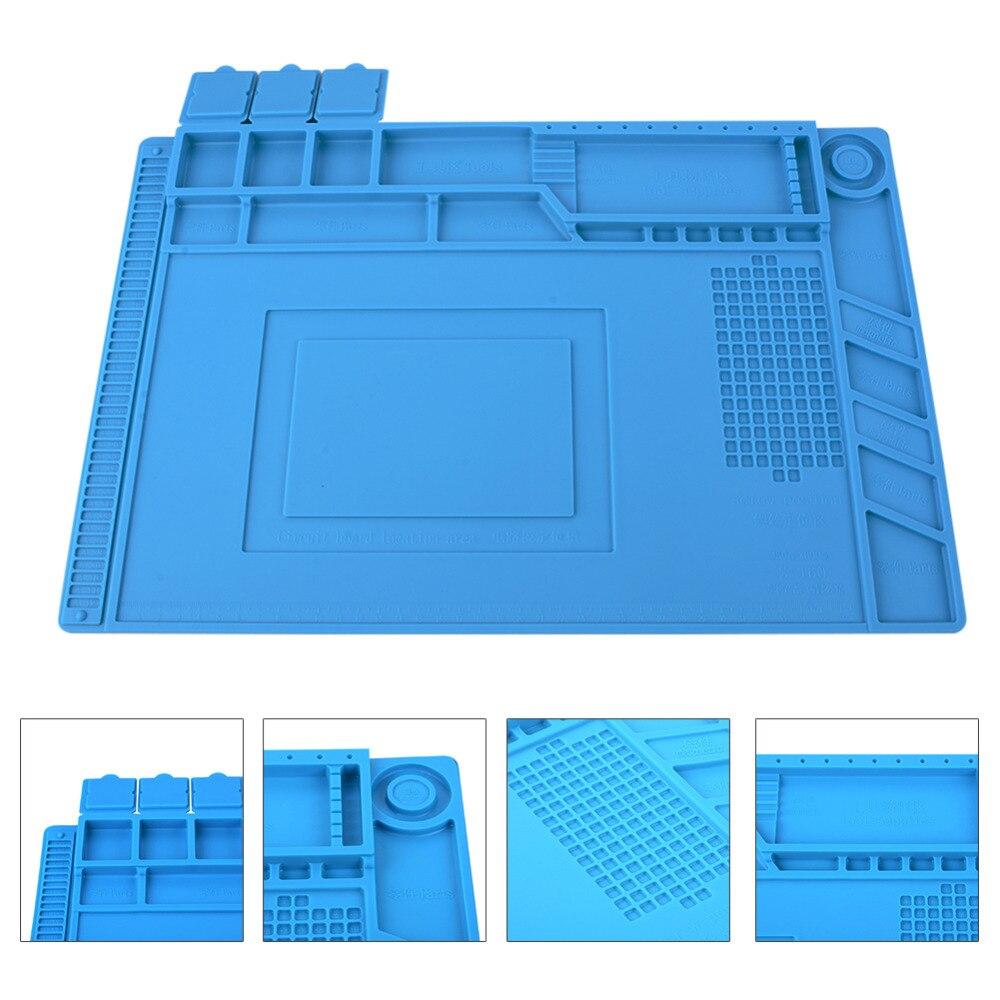 Aislamiento térmico silicona Pad de escritorio de la plataforma de mantenimiento para BGA Estación de Reparación de soldadura magnético sección Herramienta 3 tamaño