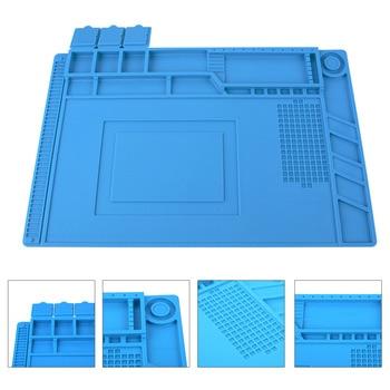 Теплоизоляция силиконовый коврик стол Коврик обслуживания платформы для BGA пайки Ремонт станции с магнитной разделе инструмент 3 Размеры P15