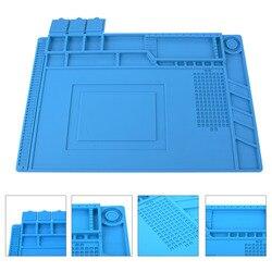 Wärmedämmung Silikon Pad Schreibtisch Matte Wartung Plattform für BGA Löten Reparatur Station mit Magnetische Abschnitt Werkzeug 3 Größe