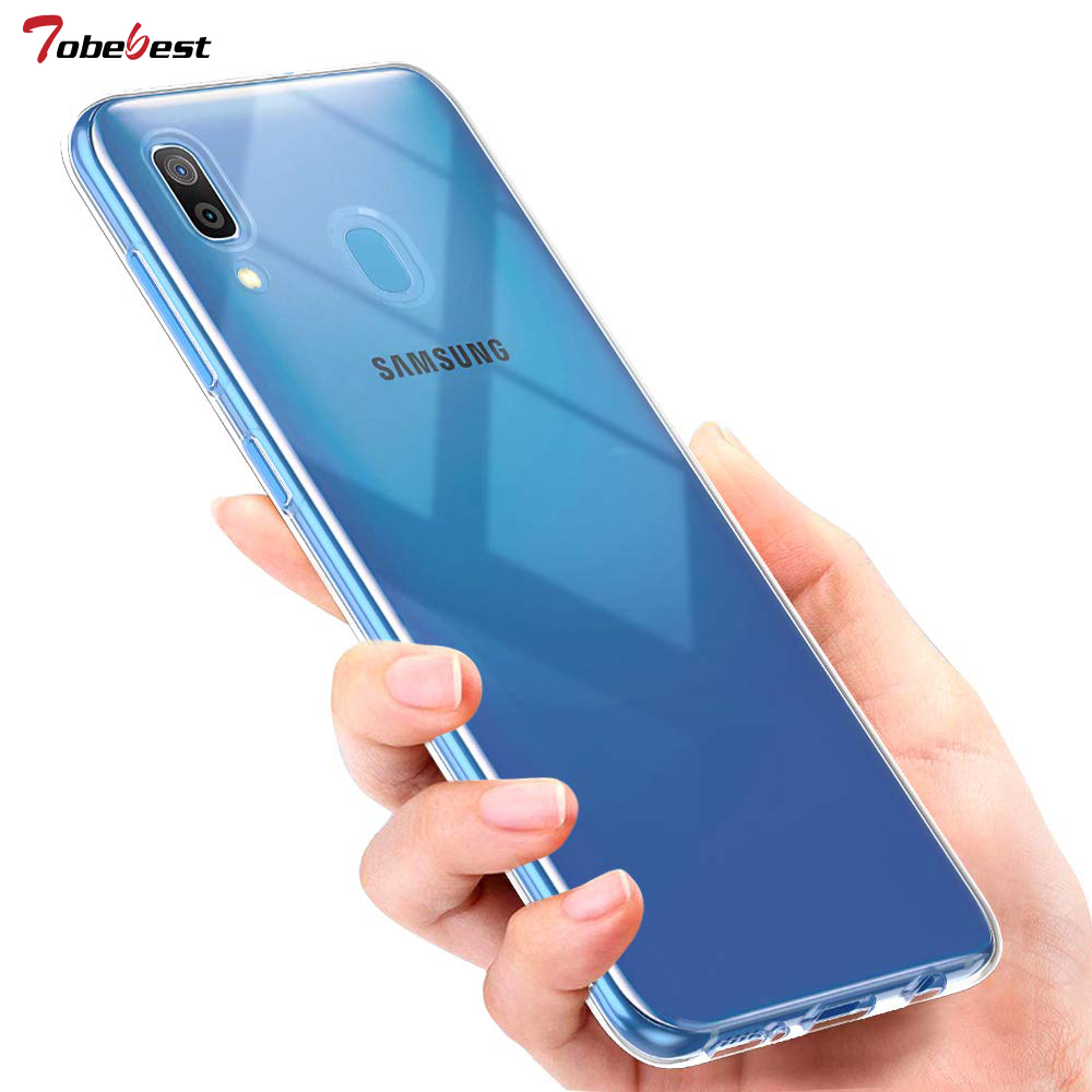 For Samsung Galaxy A30 Case Slim Clear Transparent Soft TPU For Samsung Galaxy A30 A 30 2019 SM A305F Silicone Protective Cover in Fitted Cases from Cellphones Telecommunications