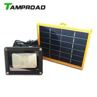 TAMPROAD Solar Power LED Flood Night Light Waterproof Outdoor Garden Landscape Spotlight Wall Lamp Bulb Solar Street Lamps