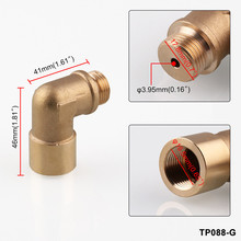 32mm M18*1.5 O2 M18X1.5 O2 Angled Oxygen Sensor Lambda Extension Spacer Brass For Decat /Hydrogen
