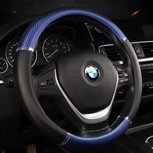 KKYSYELVA Car Sport Steering Wheel Cover Leather Auto 38cm/15inch wheel covers Interior Accessories